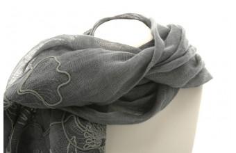 Linsjal N037 grå Mått  180x60cm