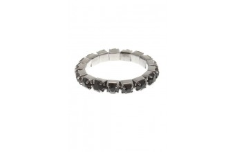 Ring Strass 1 Line Black