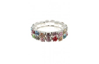 Ring Strass 2 Line Mix